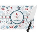 Winter Rectangular Glass Cutting Board (Personalized)