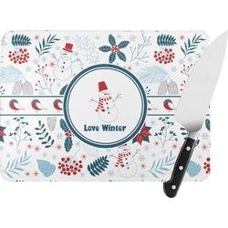 Winter Rectangular Glass Cutting Board (Personalized)