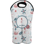 Winter Wine Tote Bag (2 Bottles) (Personalized)