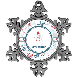 Winter Vintage Snowflake Ornament