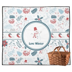 Winter Outdoor Picnic Blanket (Personalized)