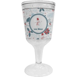 Winter Wine Tumbler - 11 oz Plastic (Personalized)