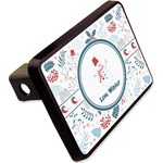 """Winter Rectangular Trailer Hitch Cover - 2"""" (Personalized)"""