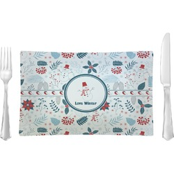 Winter Glass Rectangular Lunch / Dinner Plate - Single or Set (Personalized)