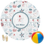 Winter Round Beach Towel (Personalized)