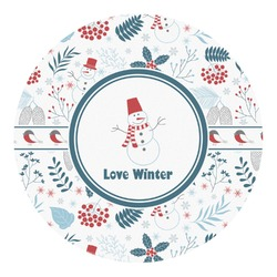 Winter Round Decal - Custom Size (Personalized)