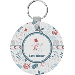 Winter Round Keychain (Personalized)