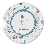 Winter Sandstone Car Coasters (Personalized)