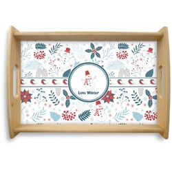Winter Natural Wooden Tray - Small (Personalized)