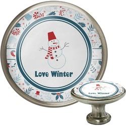 Winter Cabinet Knob (Silver) (Personalized)