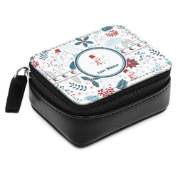 Winter Small Leatherette Travel Pill Case (Personalized)