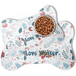 Winter Bone Shaped Dog Food Mat (Personalized)