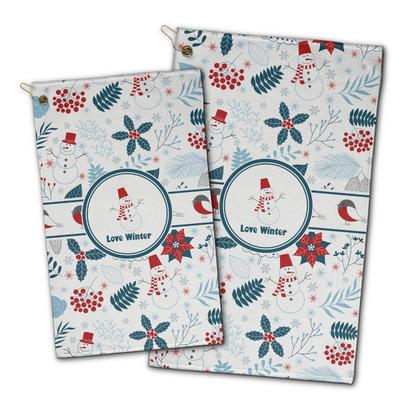 Winter Snowman Golf Towel - Full Print
