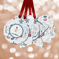 Winter Snowman Metal Ornaments - Double Sided
