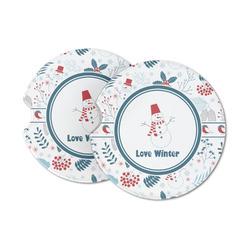Winter Sandstone Car Coasters (Personalized)