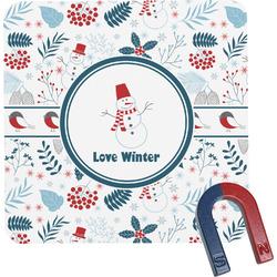 Winter Square Fridge Magnet (Personalized)