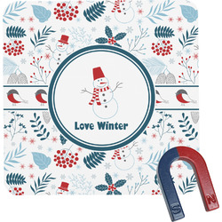 Winter Square Fridge Magnet (Personalized)