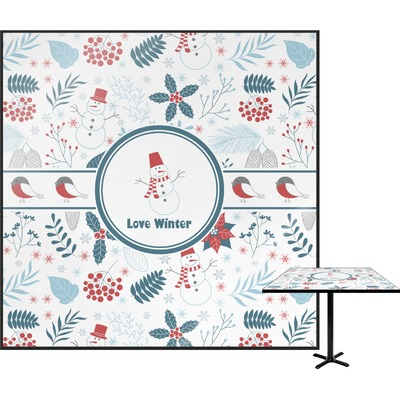 """Winter Square Table Top - 30"""" (Personalized)"""