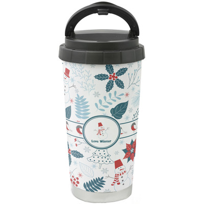 Winter Stainless Steel Travel Mug (Personalized)