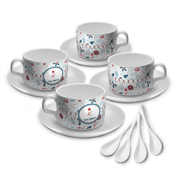 Winter Tea Cup - Set of 4 (Personalized)