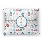 Winter Rectangular Throw Pillow (Personalized)