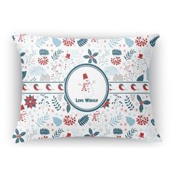Winter Rectangular Throw Pillow Case (Personalized)