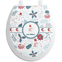 Winter Toilet Seat Decal (Personalized)