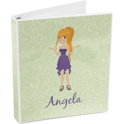 Custom Character (Woman) 3-Ring Binder (Personalized)