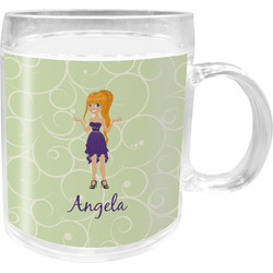 Custom Character (Woman) Acrylic Kids Mug (Personalized)