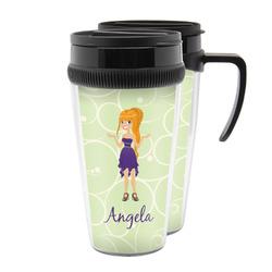 Custom Character (Woman) Acrylic Travel Mugs (Personalized)