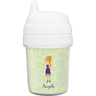 Custom Character (Woman) Baby Sippy Cup (Personalized)