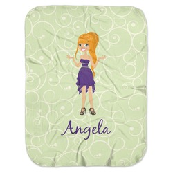 Custom Character (Woman) Baby Swaddling Blanket (Personalized)