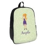Custom Character (Woman) Kids Backpack (Personalized)