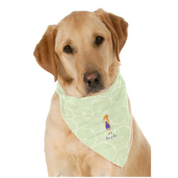 Custom Character (Woman) Dog Bandana Scarf w/ Name or Text