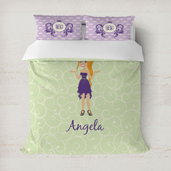 Custom Character (Woman) Duvet Covers (Personalized)
