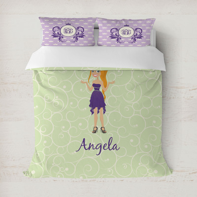Custom Character (Woman) Duvet Cover (Personalized)