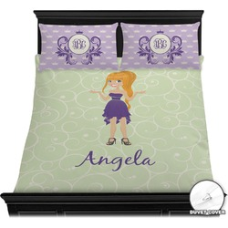 Custom Character (Woman) Duvet Cover Set (Personalized)