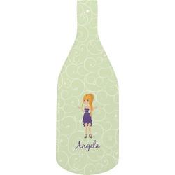 Custom Character (Woman) Bottle Shaped Cutting Board (Personalized)
