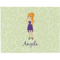 Custom Character (Woman) Placemat (Fabric) (Personalized)