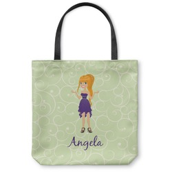 Custom Character (Woman) Canvas Tote Bag (Personalized)