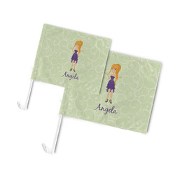 Custom Character (Woman) Car Flag (Personalized)