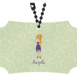 Custom Character (Woman) Rear View Mirror Ornament (Personalized)