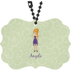 Custom Character (Woman) Rear View Mirror Charm (Personalized)