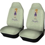 Custom Character (Woman) Car Seat Covers (Set of Two) (Personalized)