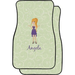 Custom Character (Woman) Car Floor Mats (Front Seat) (Personalized)