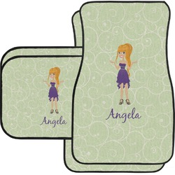 Custom Character (Woman) Car Floor Mats Set - 2 Front & 2 Back (Personalized)