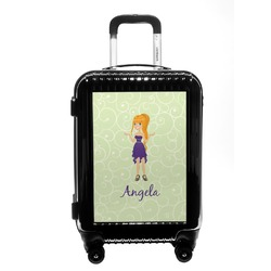 Custom Character (Woman) Carry On Hard Shell Suitcase (Personalized)