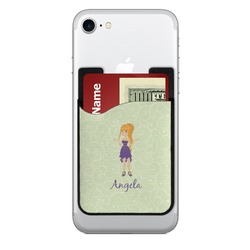 Custom Character (Woman) Cell Phone Credit Card Holder (Personalized)