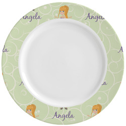 Custom Character (Woman) Ceramic Dinner Plates (Set of 4) (Personalized)