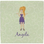 Custom Character (Woman) Ceramic Tile Hot Pad (Personalized)